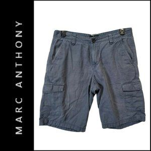 Marc Anthony Mens Flat Front Cargo Shorts Gray 34